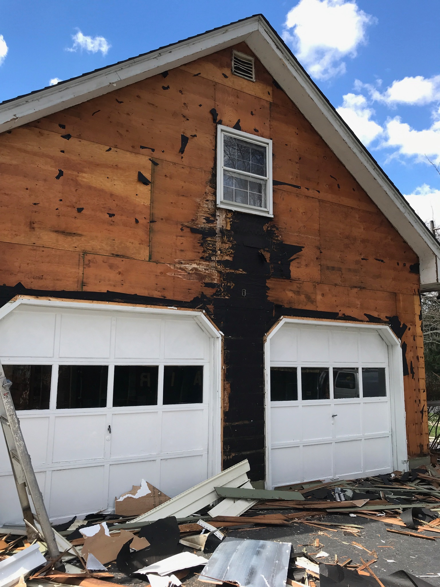 When the contractor took down the siding, the plywood was rotted from the window leaking. Unexpected issues can lead to some serious expenses!