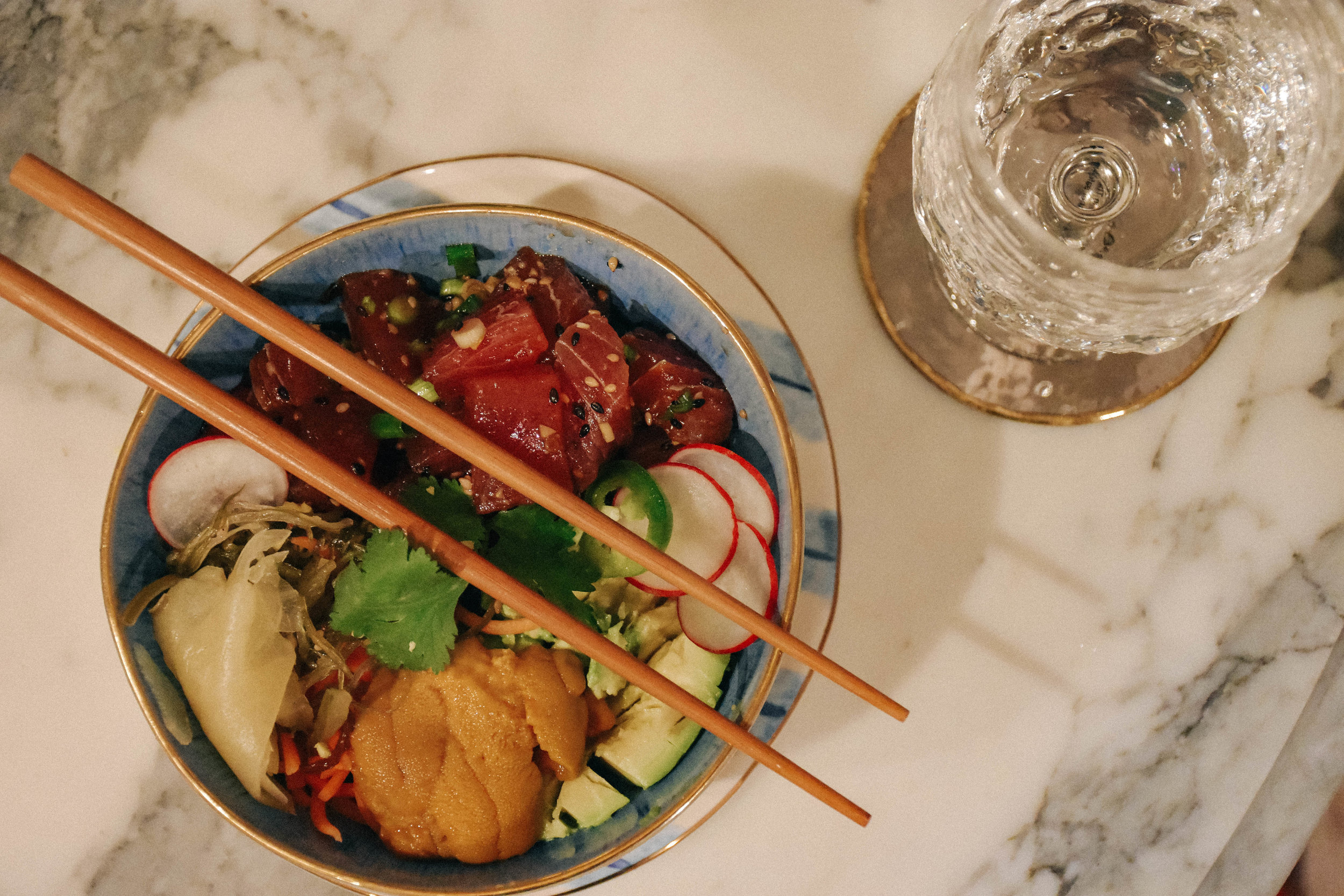 The works     BOWL ,  plate ,  COASTER  AND  WINE GLASS : Anthropologie