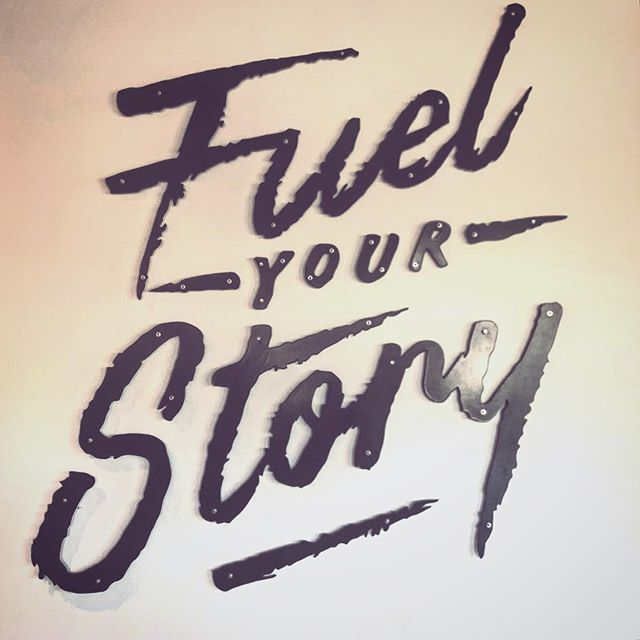 Starting the week off with a little inspiration...let's live big this week!  Everything we do tells a story, we choose to lean in to it and tell our authentic story or we shy away from it cheating ourselves and others from our gifts.  Fuel your story this week!