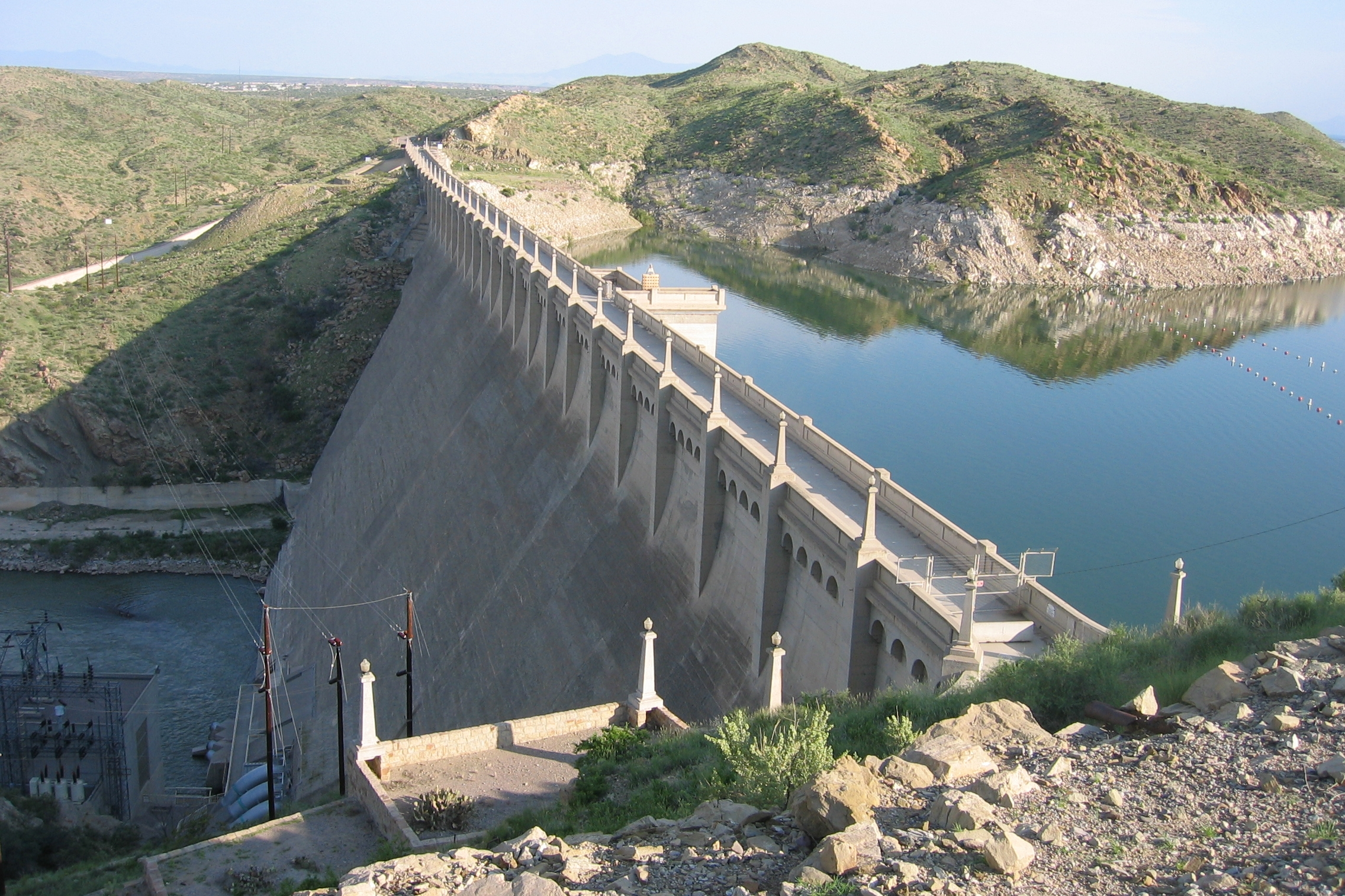 Elephant Butte Dam, listed on the National Register of Historic Places