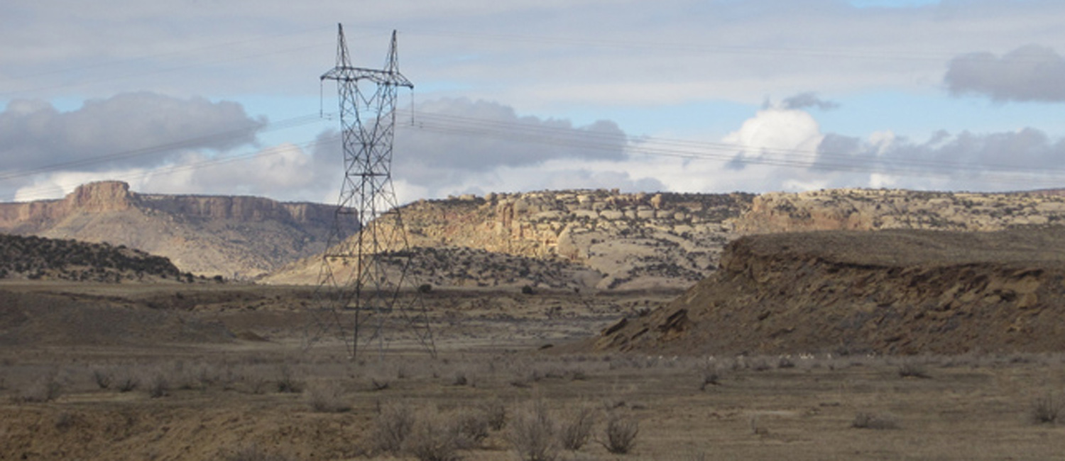 Western Area Power Administration 345-kV transmission line near Shiprock, NM