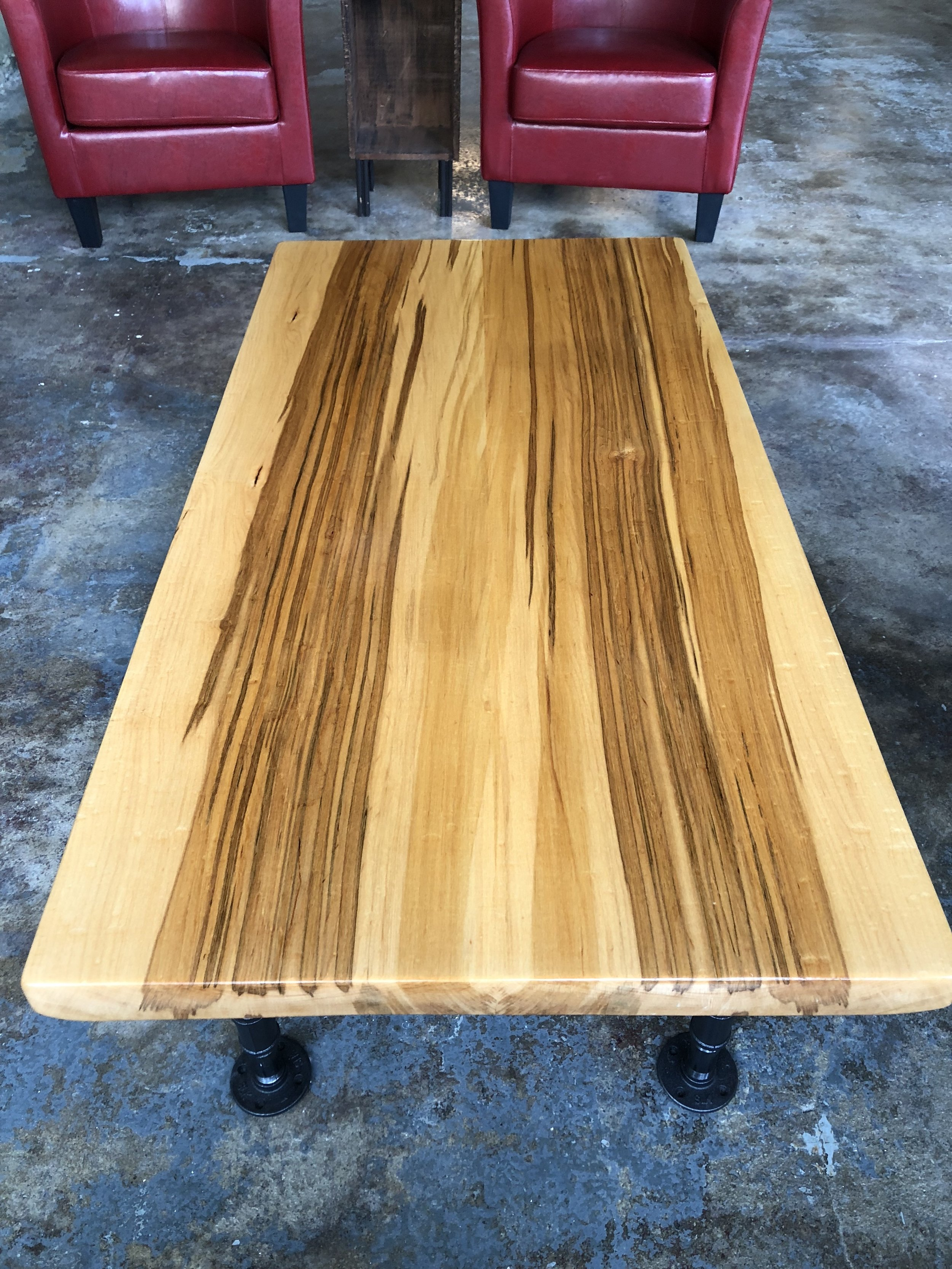 Table produced for Nseven Coffee Company, Grafton Wisconsin