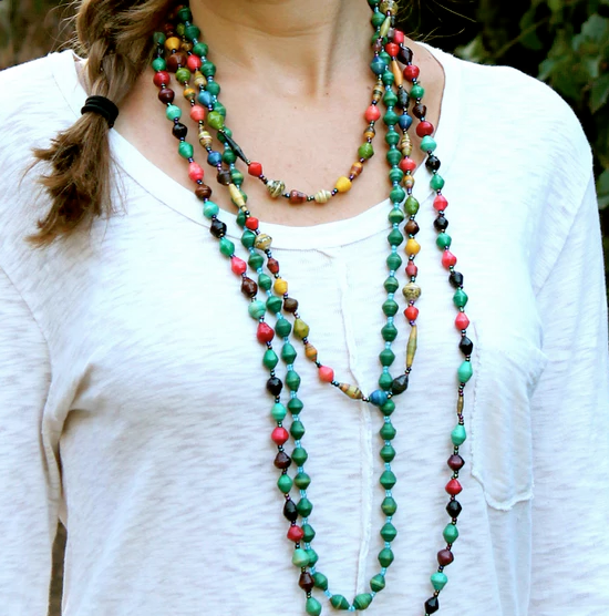 BOH Paper Bead Necklace