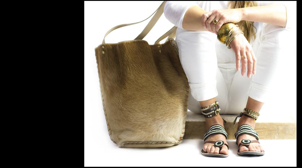 Fair trade sandals made in Kenya