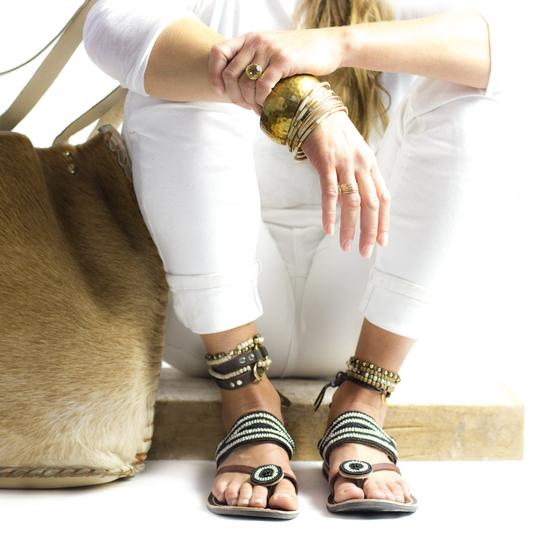 Fair trade beaded sandals