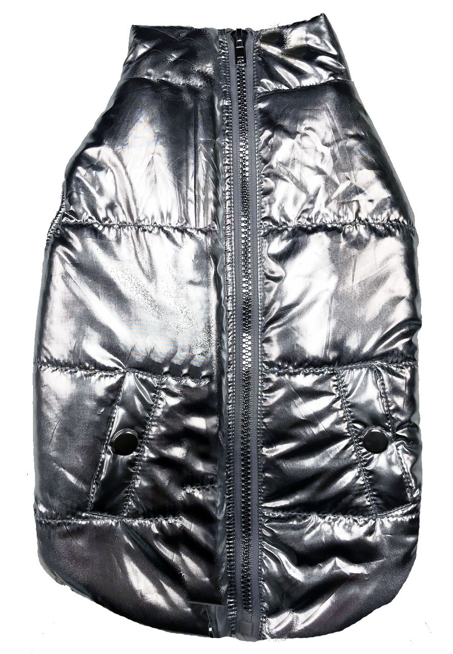 Fab Dog  Metallic Puffer Coat  $58