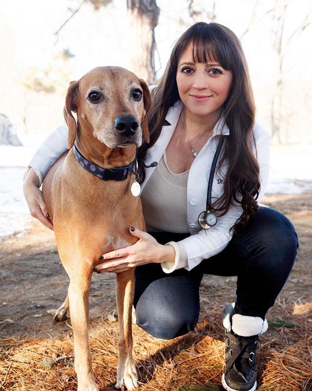 """""""Ever since I was little, I just loved animals. Somewhere along the line I found my love of medicine and felt it was a perfect combination. """"-Dr. Lisa. Click the link in our bio to read Lisa & Chloe's story and to listen to us on the @petsandpunchlines podcast"""