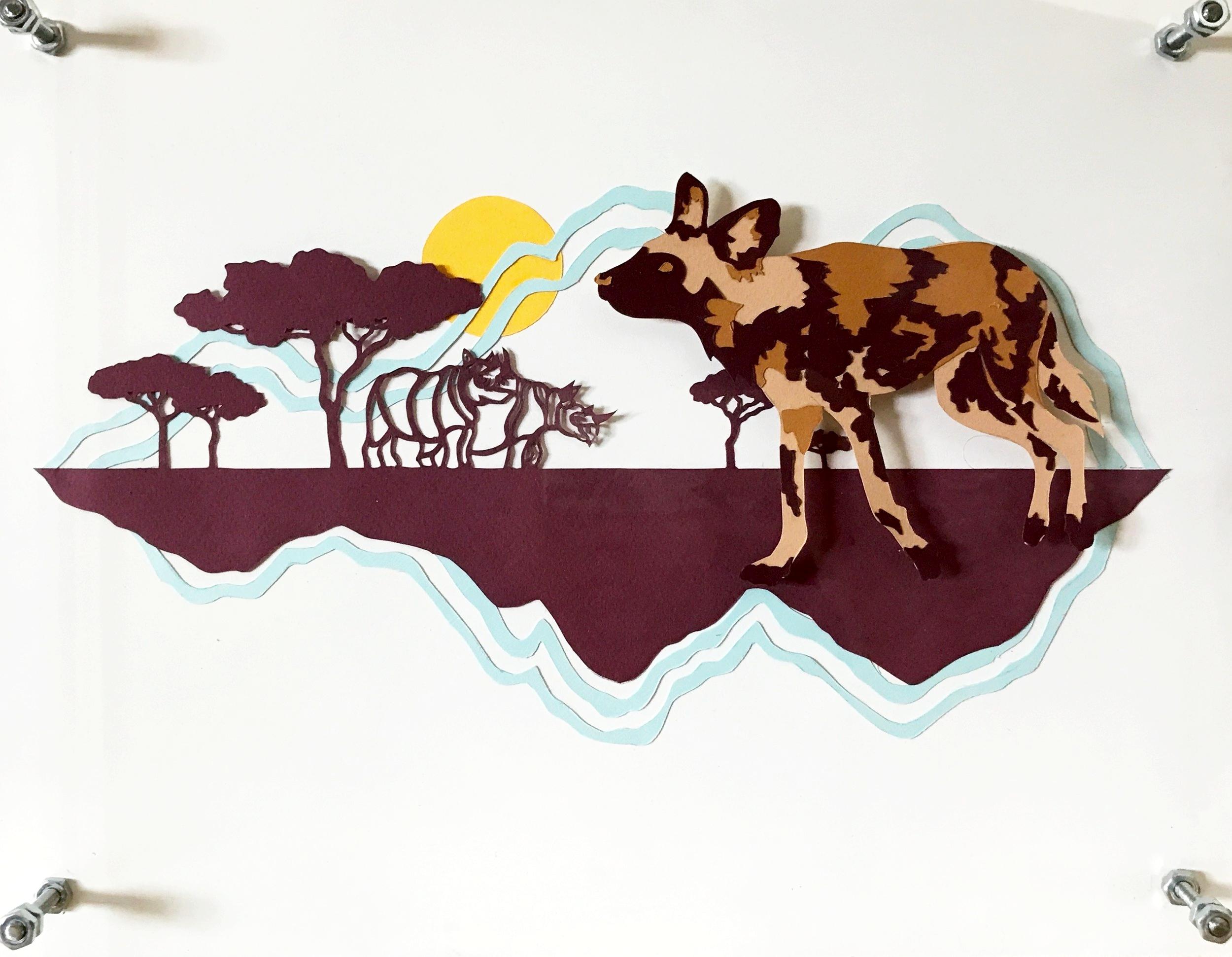 African Wild Dog & Black Rhino
