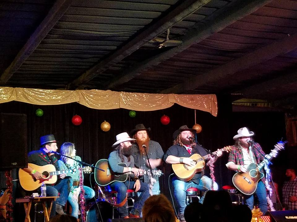 Dec. 10, 2017 - BUCK FUFFALO'S FAMILY CHRISTMASIt was our honor to be a part of the song swap at T-Bird's Garage Pub out on Melody Mountain Ranch! We got to share the stage with some new friends, James Cook and Phil Hamilton during our round. Including raffles, ticket sales, and silent auction on donated merch and other packages, the night raised over $3000 for the Stephenville Area Foster Home!