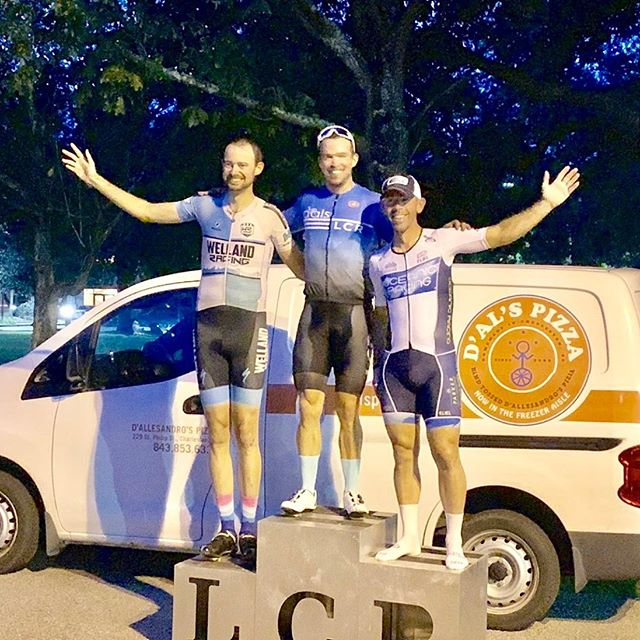 Good times at the @lcrcycling summer series finale last night. @aaron.atwater with 2nd in the 1/2/3 and @jadizzo 2nd and @jackstewart4359 3rd in the 4/5 race.  Nice work y'all. . . . #cooperrivercycles #elielcycling #iaminfinit #ridelife #ridelots #velo #cyclingshots #cyclingphotos #cycling #cyclinglife #cyclist #roadcycling #outsideisfree #strava #stravacycling #fromwhereiride #instacycling #rideyourbike #crits