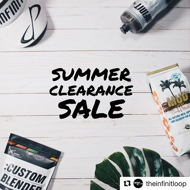 ・・・ GOING ON NOW! — Our Summer Clearance Sale with items up to 40% off! Including gear, bottles, Strawberry Lemonade Custom and Coconut MUD. Going on now thru Labor Day! Happy Shopping 😀 🛒