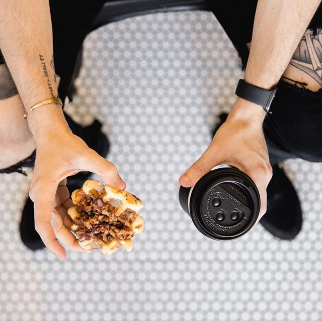 Waffles + Coffee...the Perfect Pair? We seem to think so! ☺️😋 #CoupleGoals #FridayMood . . . #Waffles #Coffee #Foodgasm #CoffeeLover #PerfectCouple #Yum #PerfectPair #Love #InstaLove #Food #FoodPorn #GetSmashed #RaleighNC #weekendvibes #fridayvibes #weekend #friday