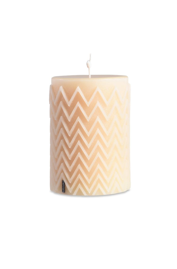 CHEVRON CYLINDRICAL CANDLE  $ 327   Order Now