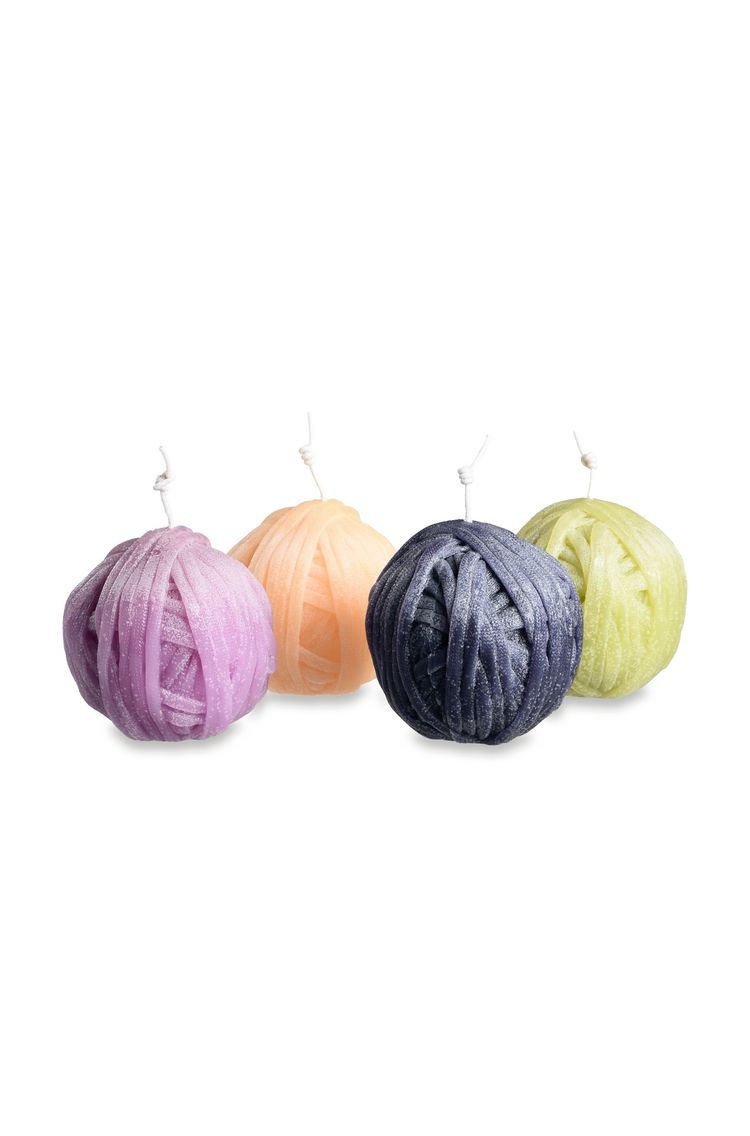 GOMITOLO CANDLE 4-PIECE  KIT - PURPLE $ 377   Order Now