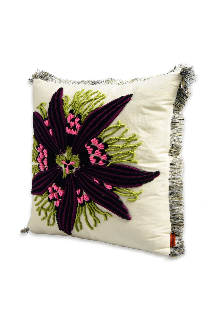 PASSION FLOWER CUSHION  16 X 16 in $ 652   Order Now