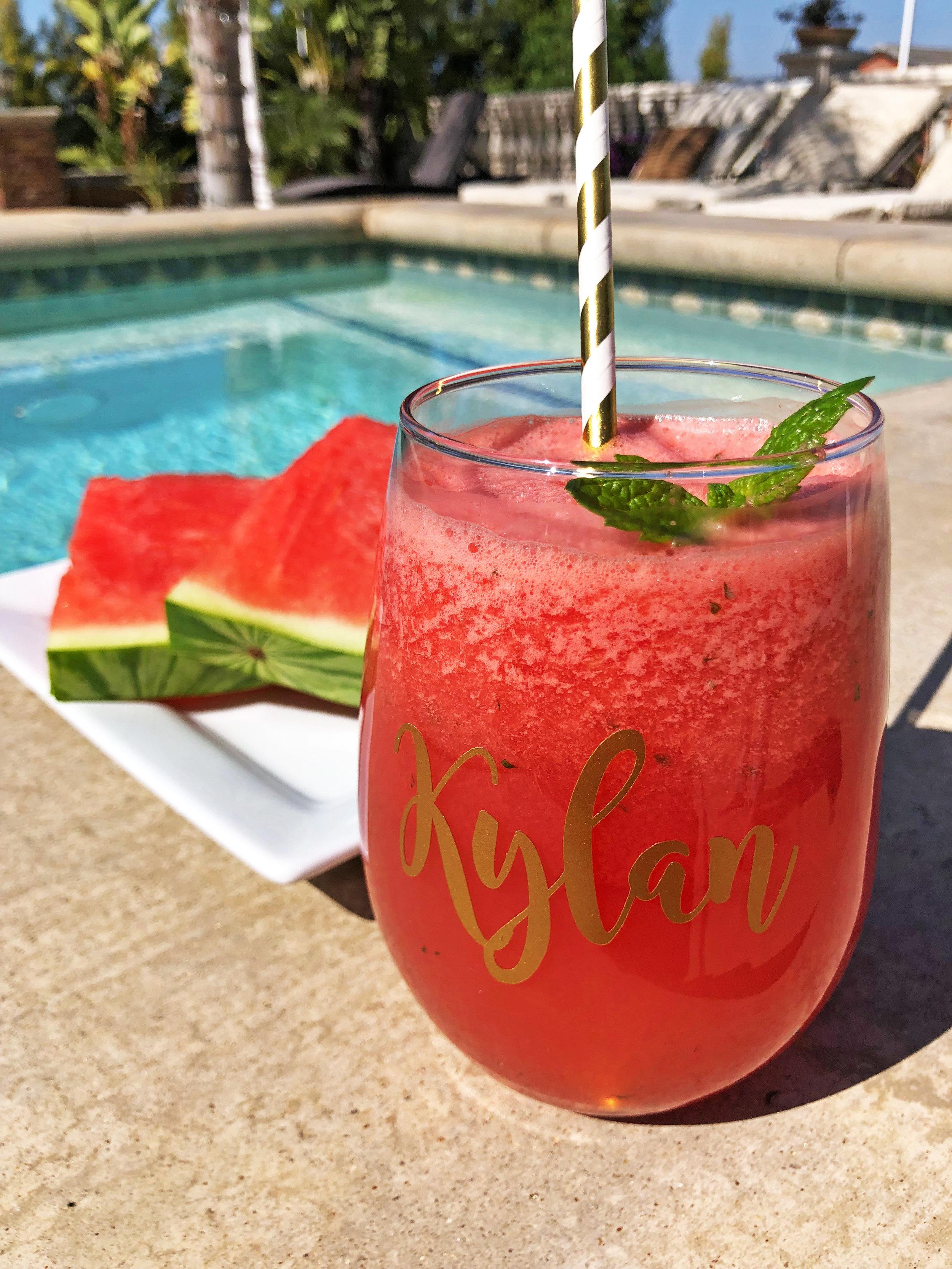 Watermelon mint drink