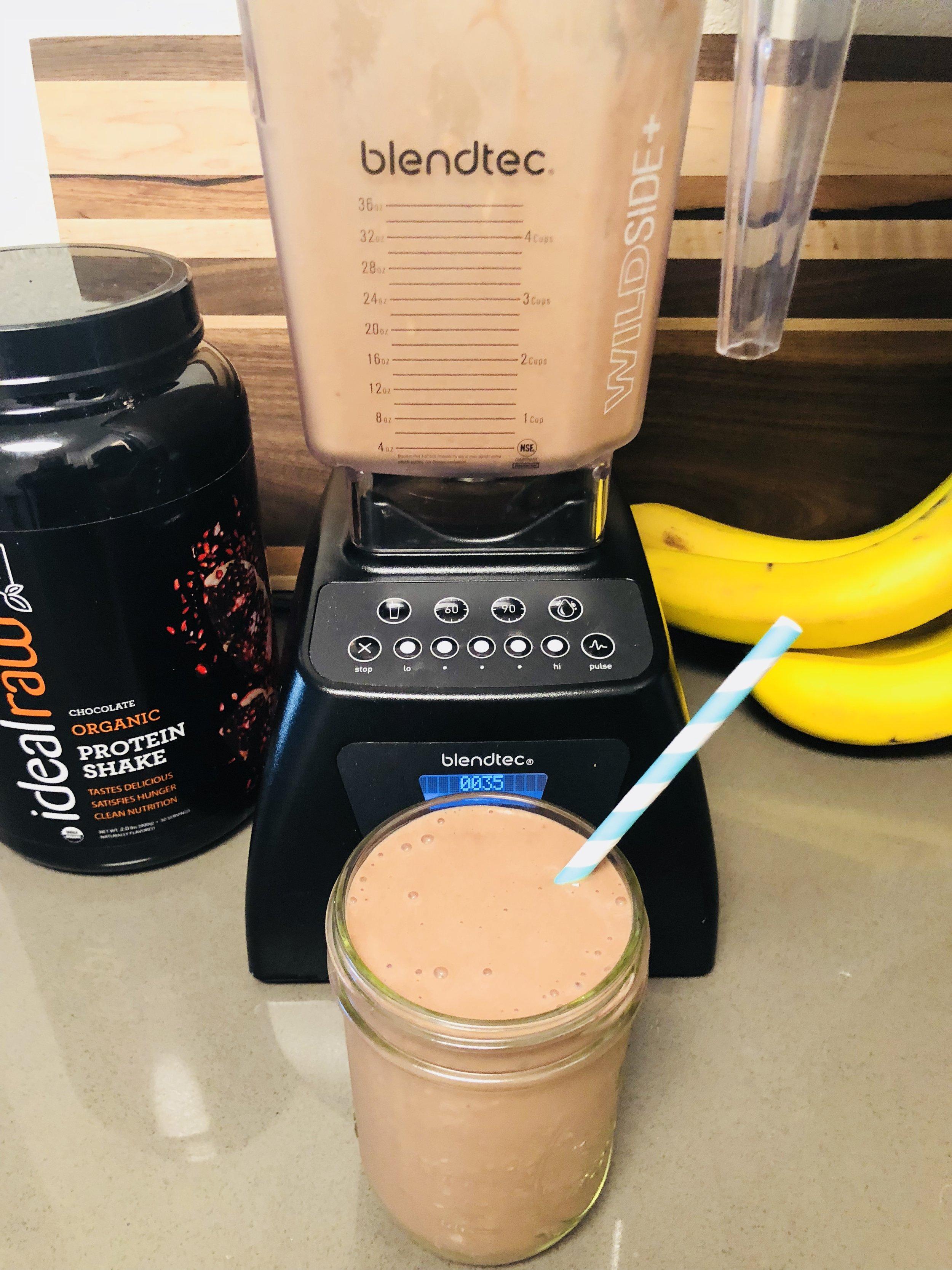 vegan chocolate protein shake