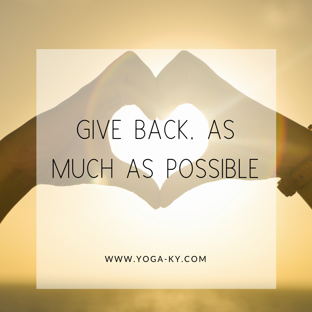 mantra give back quote