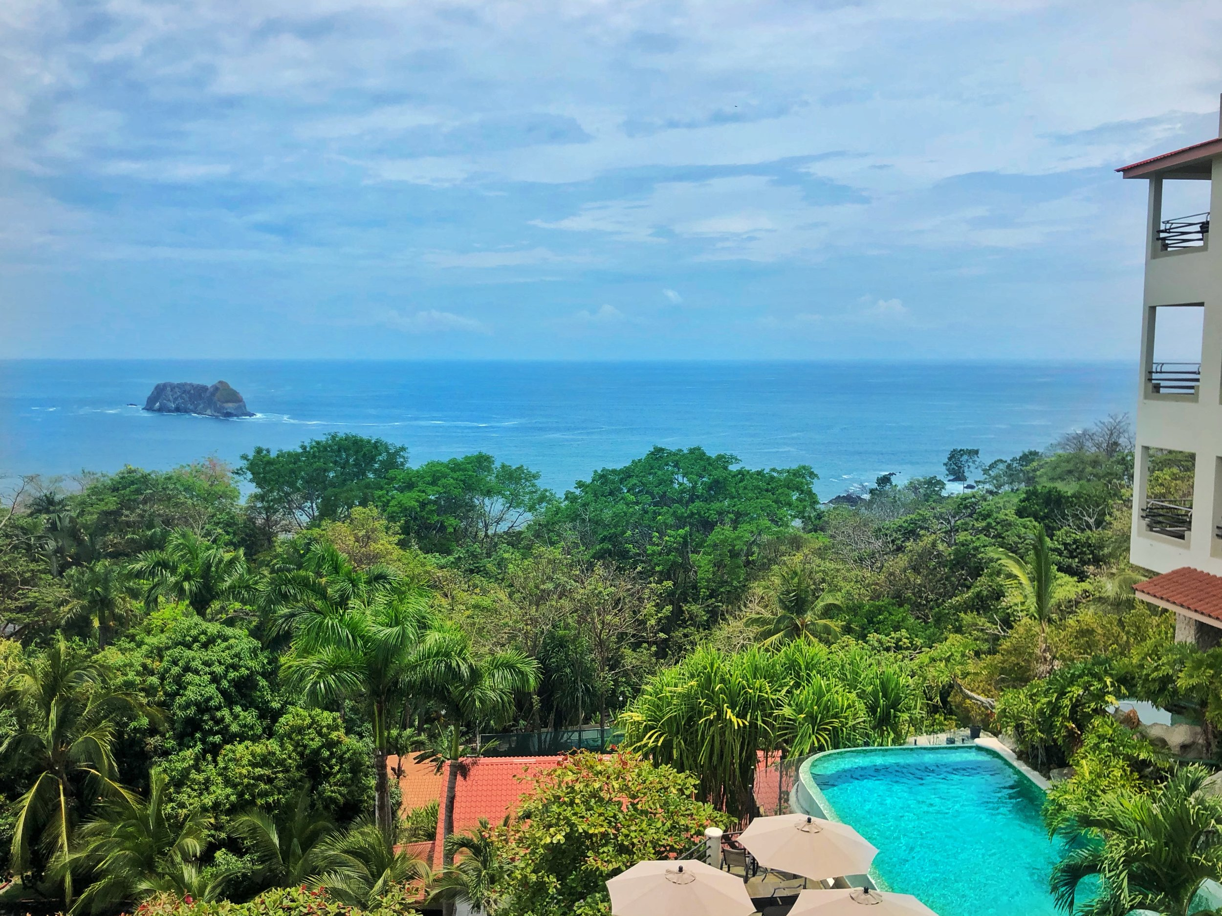 View from my balcony In Costa Rica