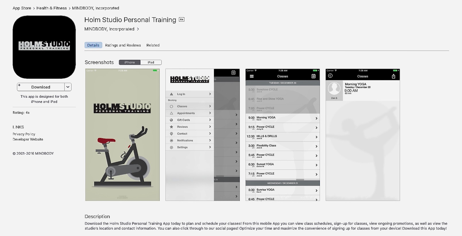 DOWNLOAD OUR APP - FOR CURRENT CLASS SCHEDULE