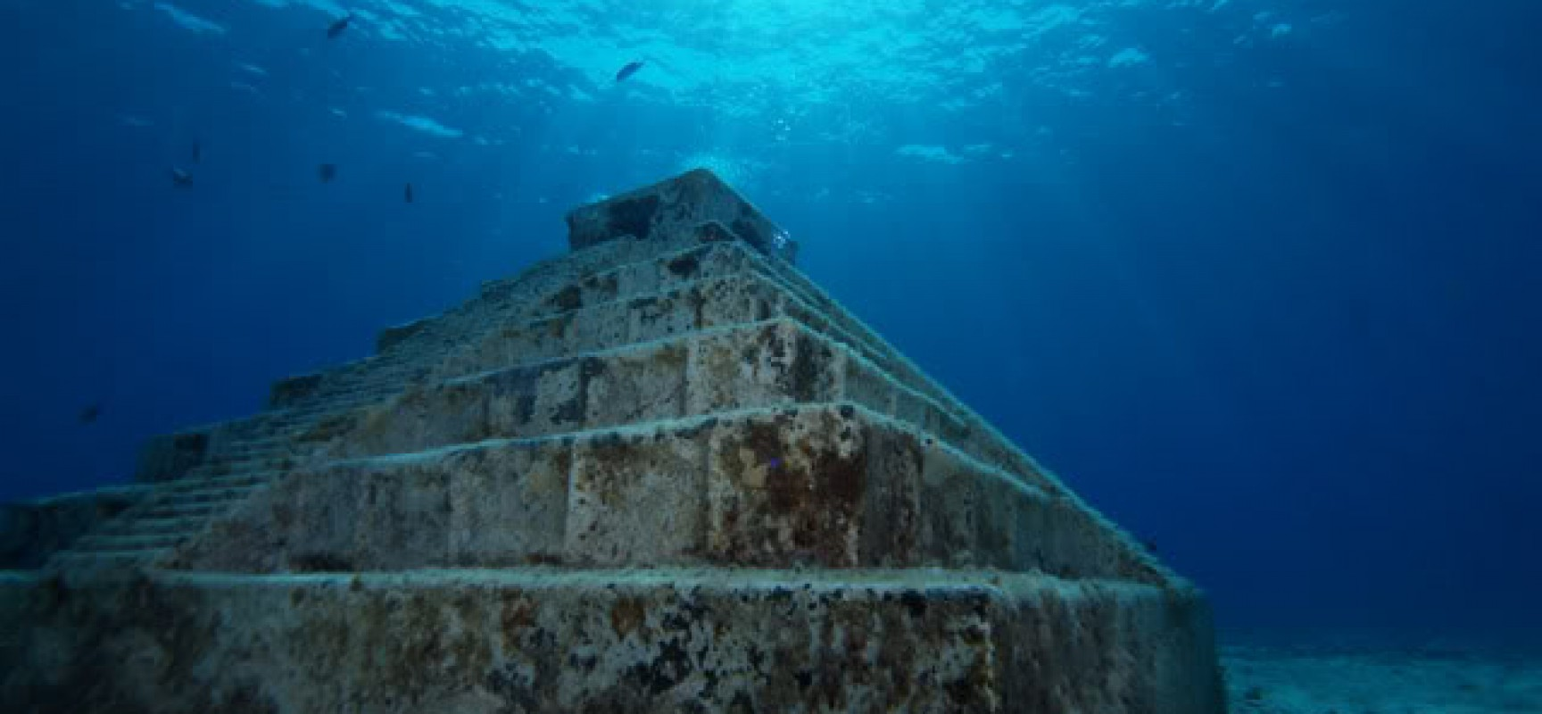 Yonaguni Pyramid near Japan, part of the massive 10,000-year-old monument complex