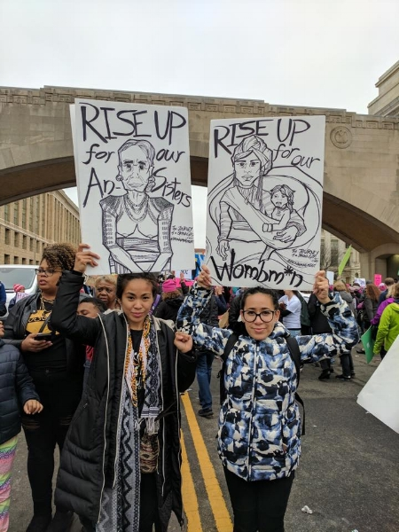 The author and Vanessa Ramalho repping Pilipinxs at the Womxn's March in D.C. / Photo courtesy of the author
