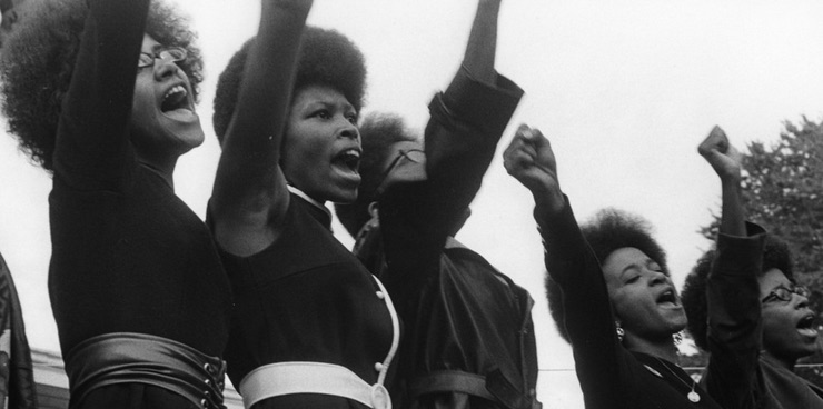 Sacramento Black Panthers at the Free Huey Rally in Bobby Hutton Memorial Park, Oakland, CA, August 25, 1968 / Photo by Pirkle Jones