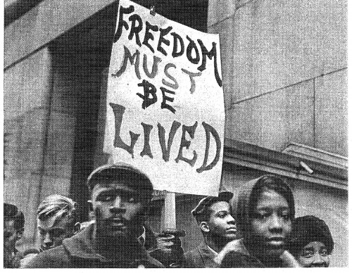 School boycott, Chicago, 1964 / Photo by Marion Palfi
