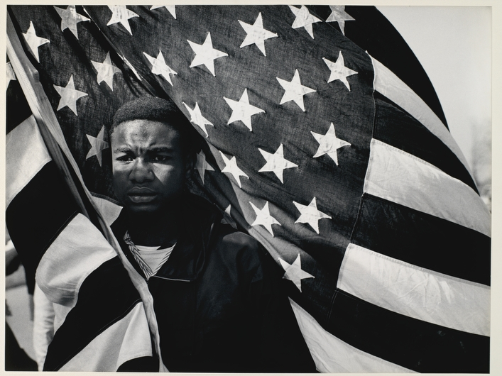 """Selma to Montgomery March, Alabama, 1965 / Photo by   James H. Karales, """"  Road to Freedom: The Civil Rights Movement 1958-1968, and Beyond ,"""" The Bronx Museum of the Arts at The New School"""