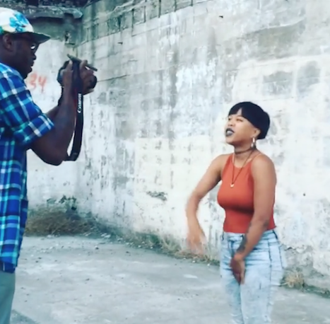 """K!mmortal spitting bars during the filming of """"Jungle"""" / Camerawork by Khalil Equiano"""