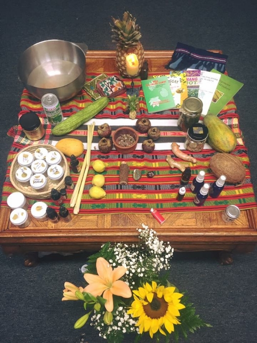 Altar at Philippine Folk and Herbal Medicine Workshop / NYC, April 2017