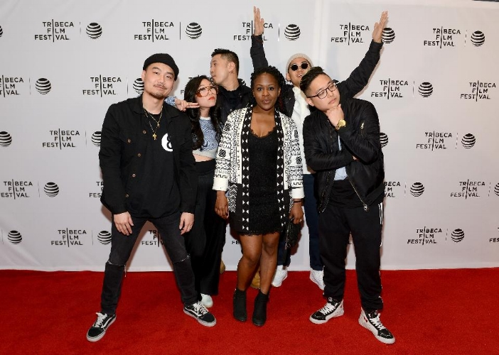 Dumbfoundead, Awkwafina, Lyricks, director Salima Koroma, Jaeki Cho, and Rekstizzy attend the 'Bad Rap' Premiere during the 2016 Tribeca Film Festival / Photo: Noam Galai/Getty Images for Tribeca Film Festival