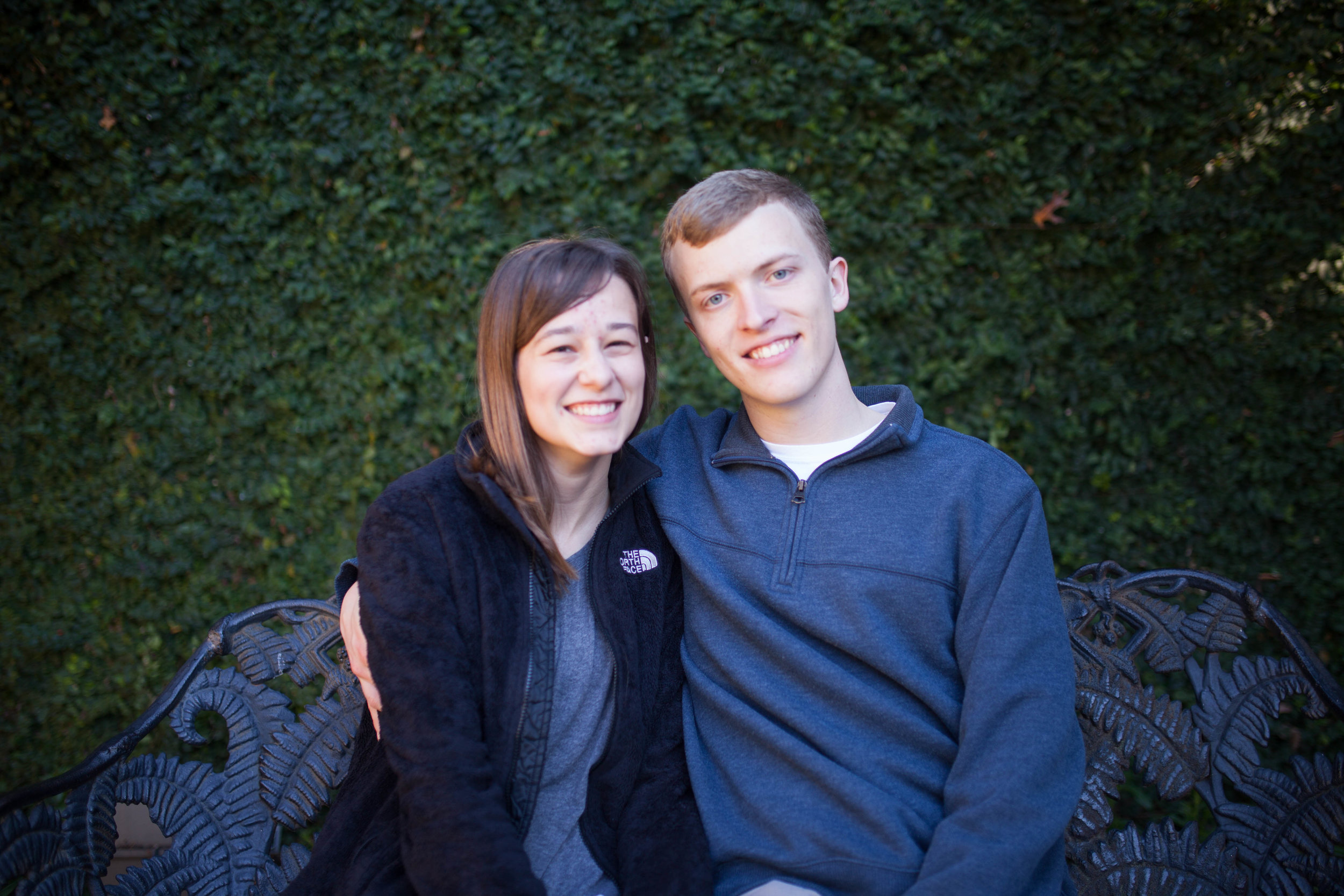 Happy Couple Engagement Photo