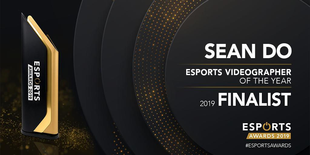 Nominated for the 2019 Esports Videographer of the Year by Esports Awards