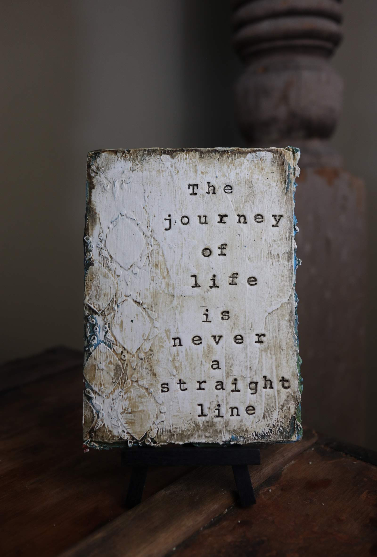 the journey of life is never a straight line