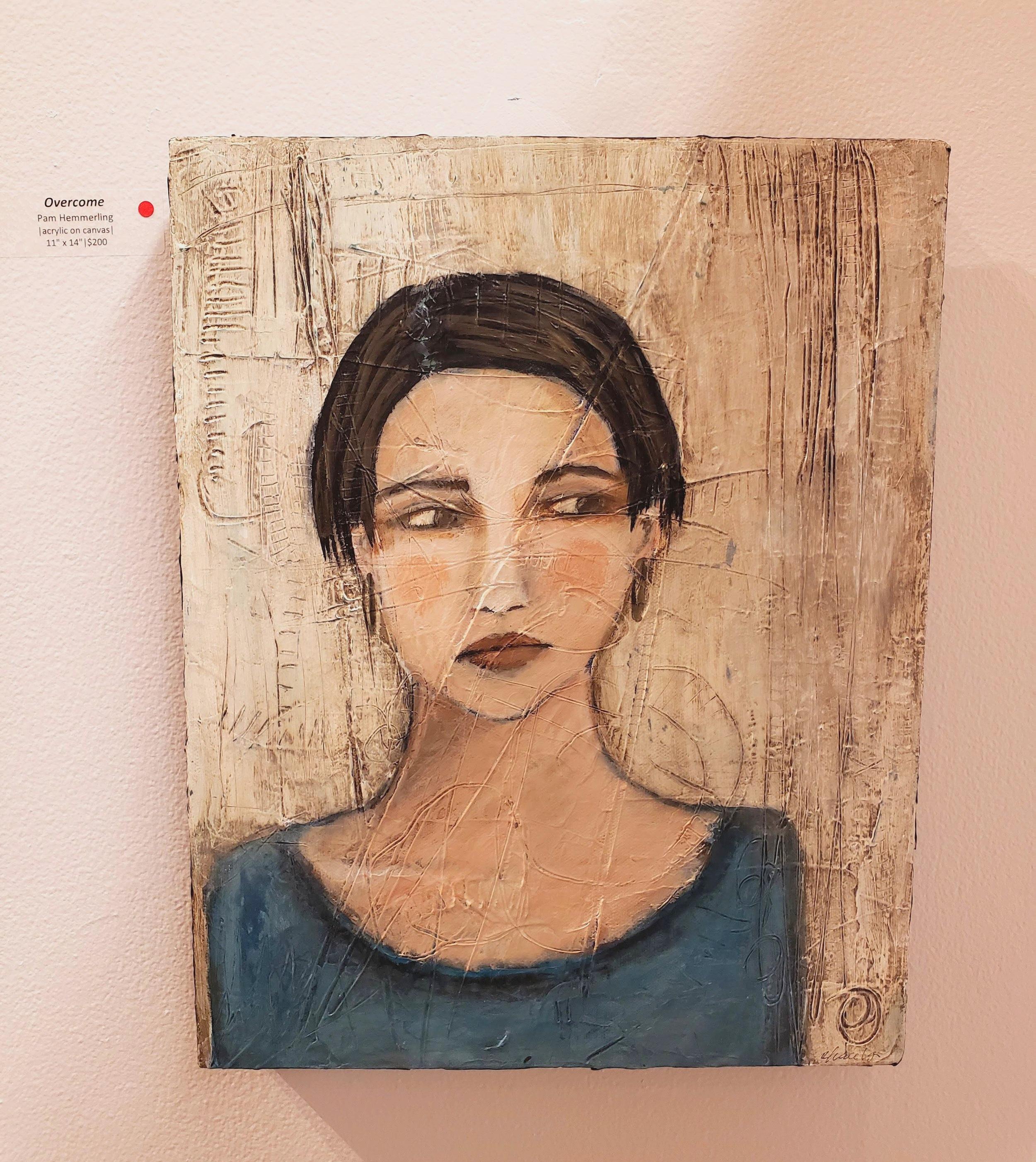 Overcome, portrait art, pam hemmerling