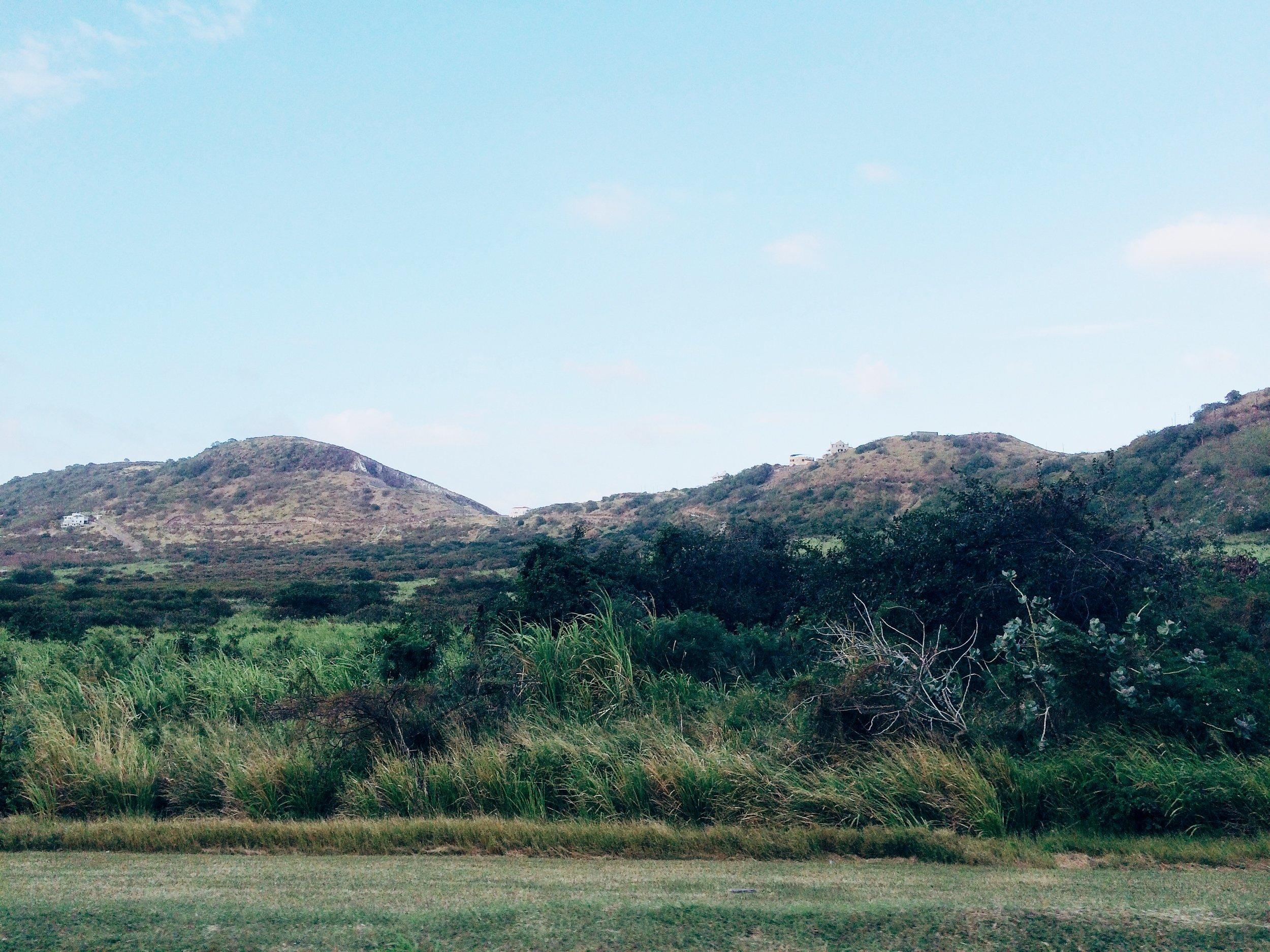caribbean island mountaintops