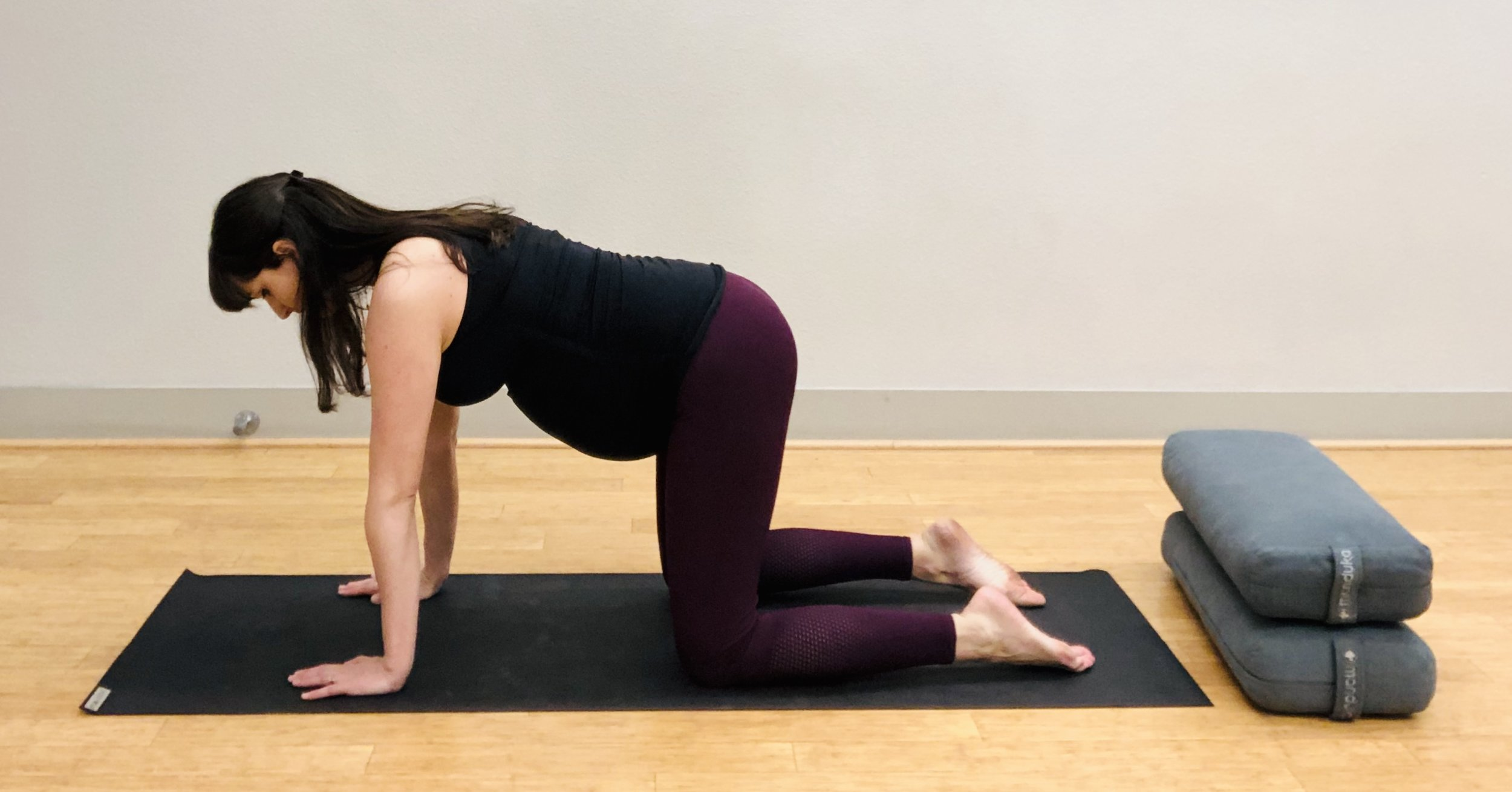 Table Top. Move through this position to come to Crescent Lunge on the other side.