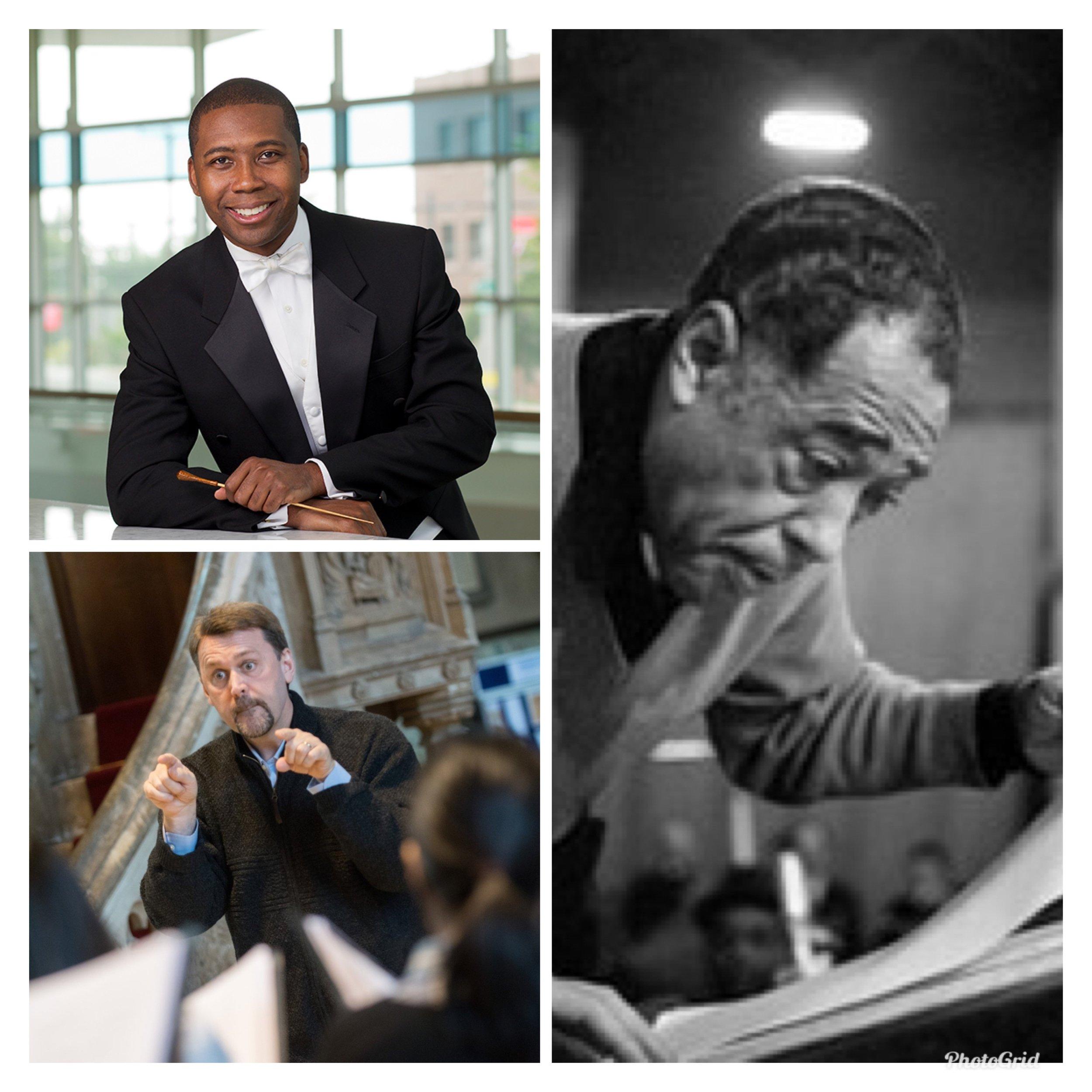 Rollo Dilworth, Nicholas White, Duke Ellington (counterclockwise)