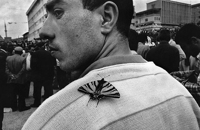 """""""There was tension, a sense of urgency and violence about to erupt..."""" 📸 - Nikos Economopoulos during a political rally in Turkey. 1990 #MagnumPhotos #coexistthemovement"""