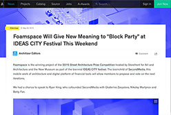 """Architizer - Foamspace Will Give New Meaning to """"Block Party"""" - April 2015"""