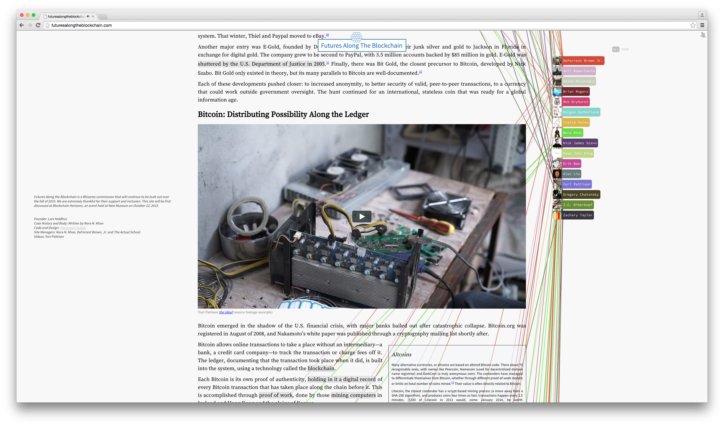 Futures Along the Blockchain - Rhizome - November 2015