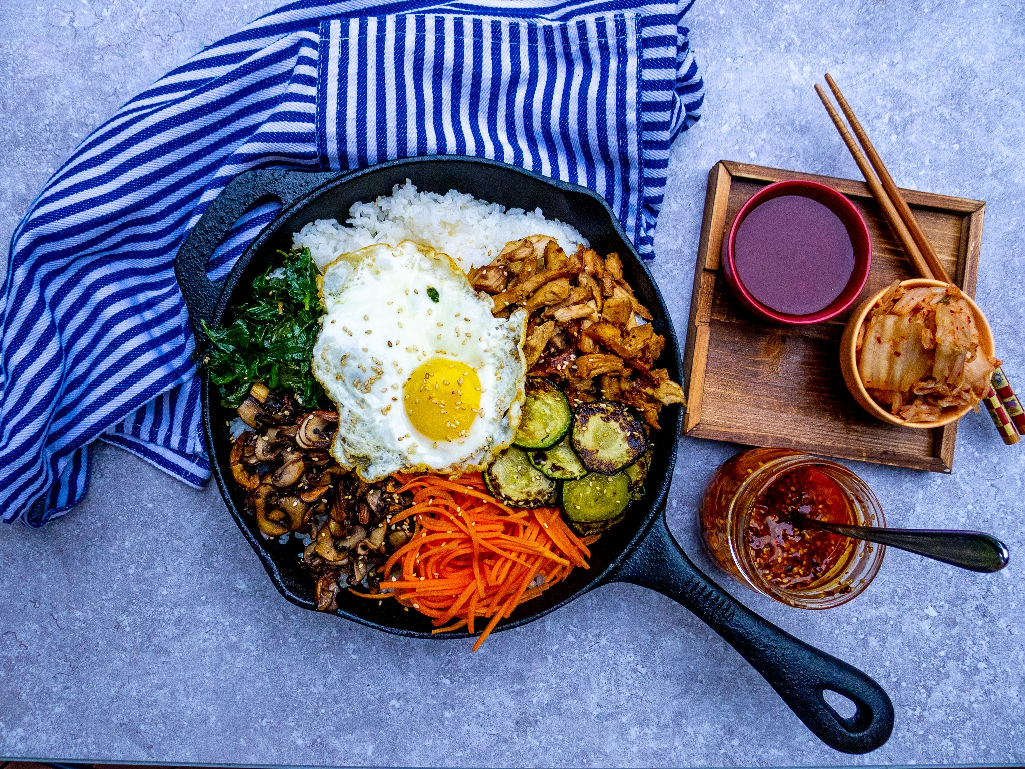 POST-THANKSGIVING CAST IRON SKILLET TURKEY BIBIMBAP