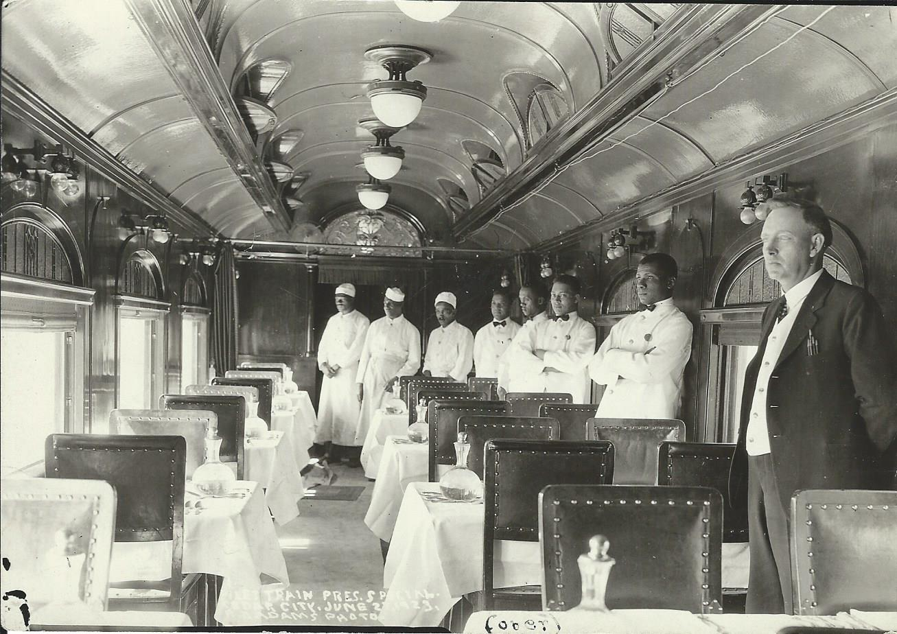 President Harding's Dining Car and Staff - Photo by R.D. Adams
