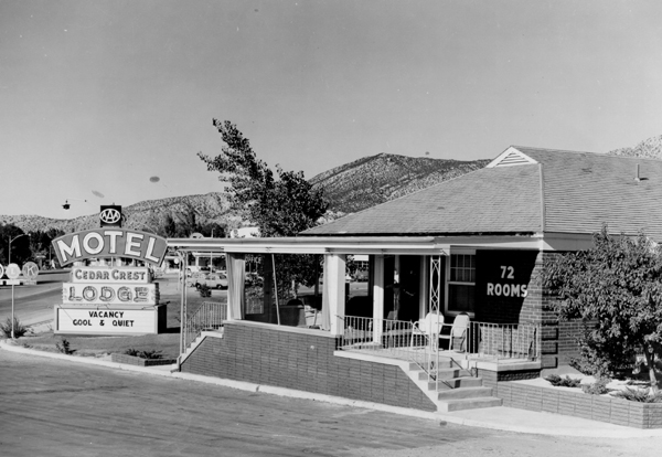 The Cedar Crest Motel sat where Smith's grocery store is today.