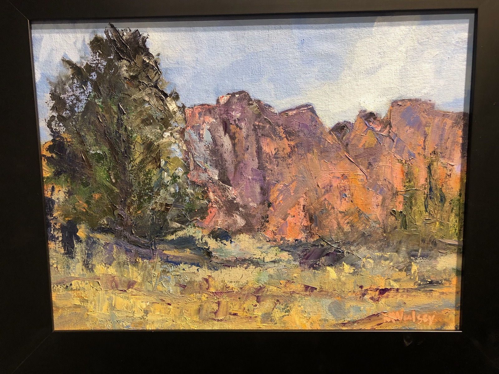 Kolob Terrace Afternoon (oil) by Mona Woolsey