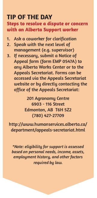 STRIDE Alberta Support Tips