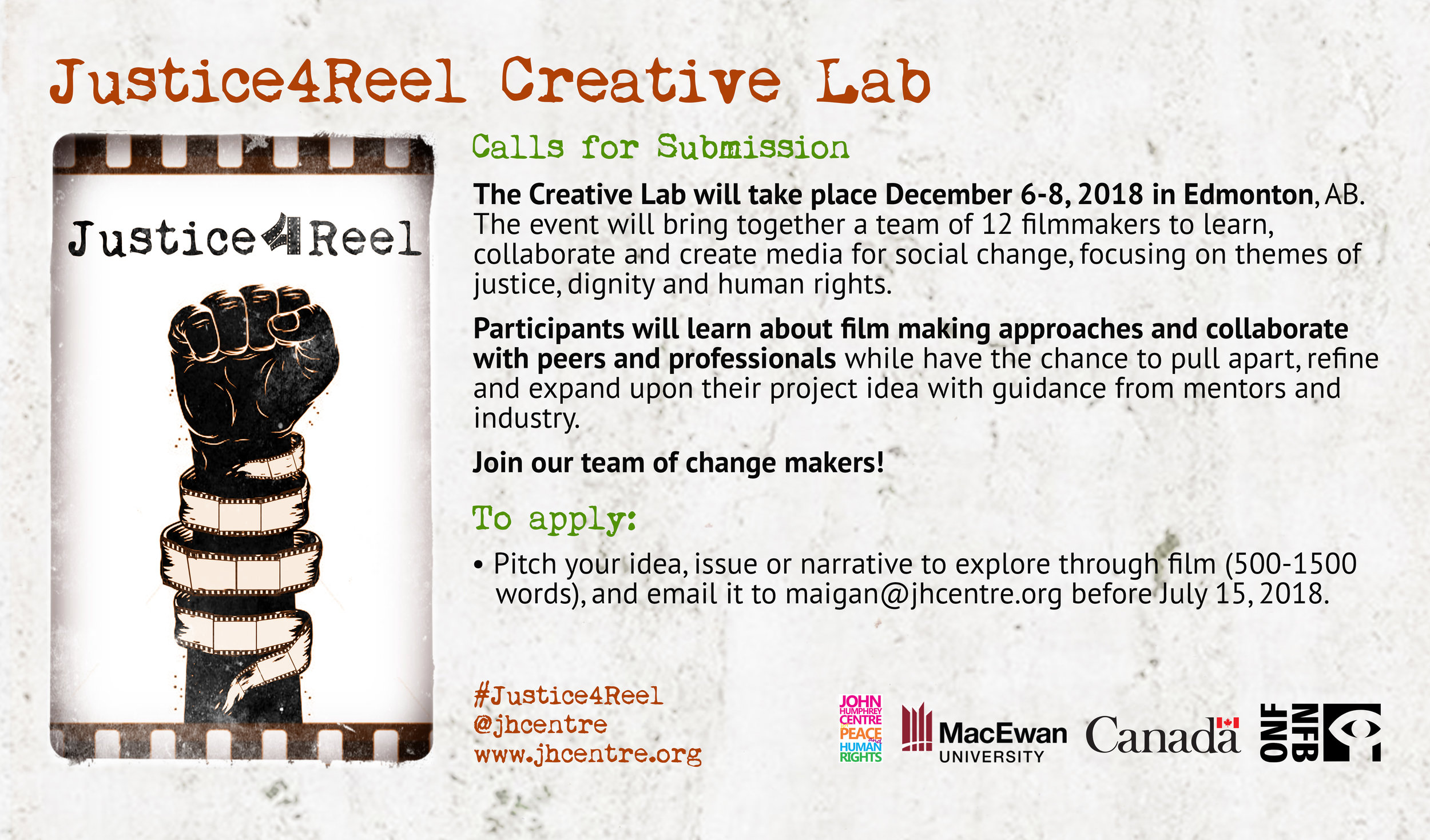 Justice4Reel Call For Submission 2018