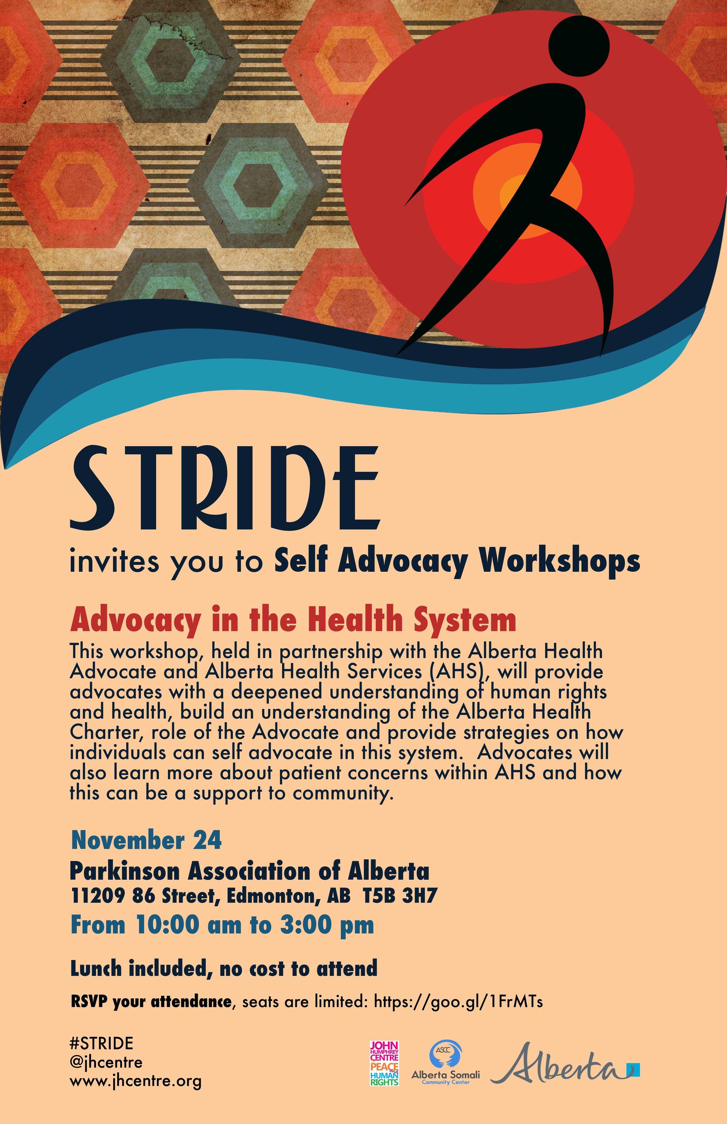 Health Advocacy Stride Edmonton Nov 24
