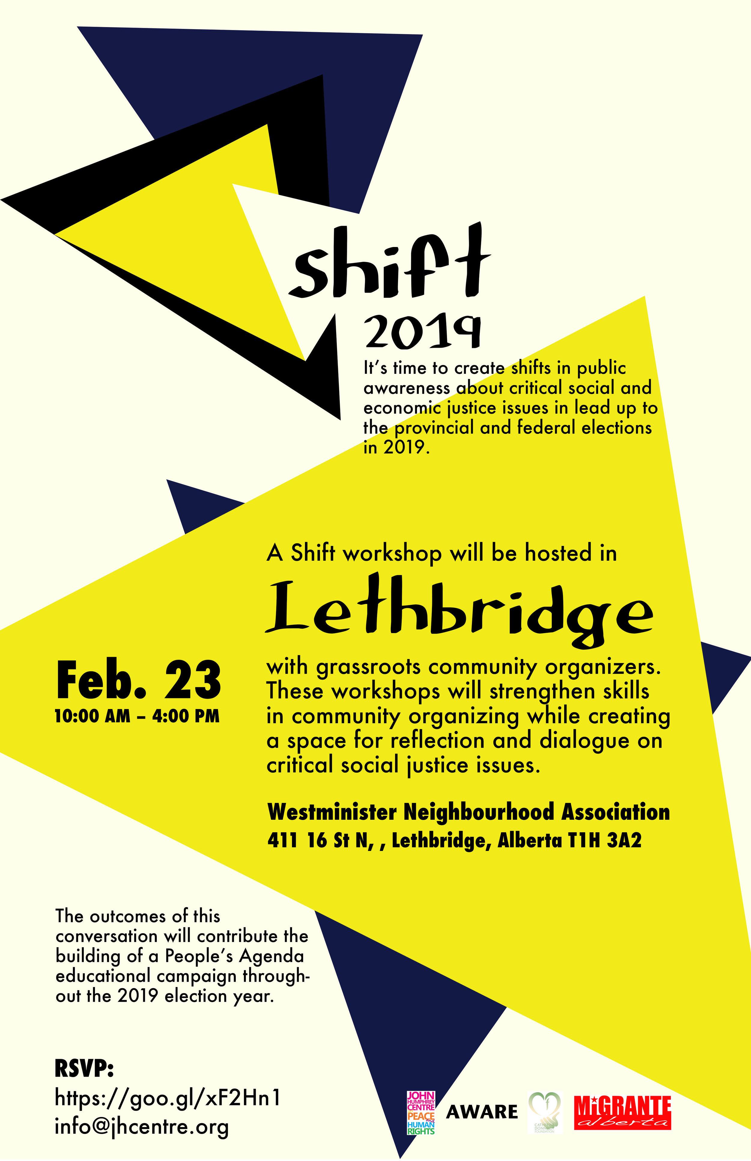 Shift 2019 Lethbridge Poster